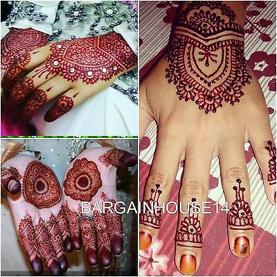 6  X Dark Maroon/red Henna Indian  Mehndi Tattoo Cones +Quick Dry +Fast Post