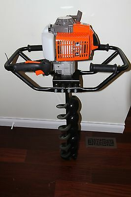 "New KASEI Earth Auger 3HP Gas 63CC 2 Man w/4"",6"",8""&10"" bits extension bar"