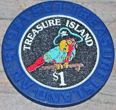 $1 2Nd Edition Gaming Chip From The Treasure Island Casino Las Vegas Nv