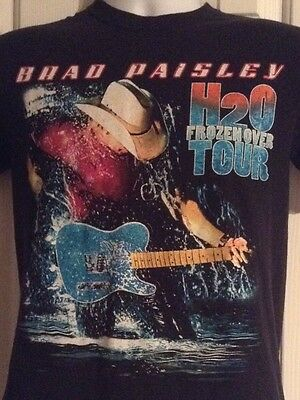 (2-Sided) BRAD PAISLEY H2O Frozen Over Tour T-Shirt Size SMALL Mens Womens 2011