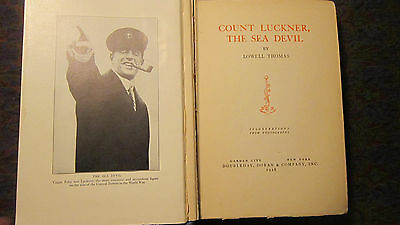 Count Luckner, The Sea Devil by Lowell Thomas Doubleday 1928