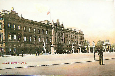 Postcard.topographical.hand Coloured Card.buckingham Palace.early Card