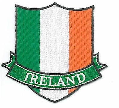 Ireland National Flag - Tricolor - Embroidered Irish Shield Patch Badge