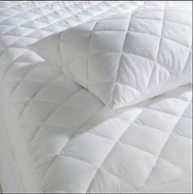 Budget Quilted  Mattress Protector Extra Deep Double
