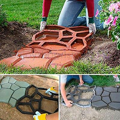 Resin Garden Path Making DIY Mould Patio Walkway Stepping Stone Maker Paver