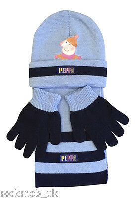 Kids knitted winter hat scarf & gloves set, George, Hello Kitty,One size,4-8 yrs