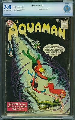 Aquaman #11 - (CBCS 3.0 GD/VG) (DC 1963) - 1st Appearance of Mera! Not CGC