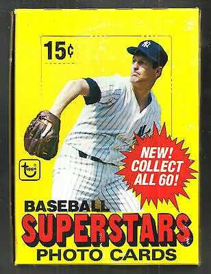 1980 Topps Baseball Superstar 5X7 Photo Cards Box 48 Pictures/ Box From New Case