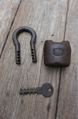 Antique / Vintage Padlock with one working key.