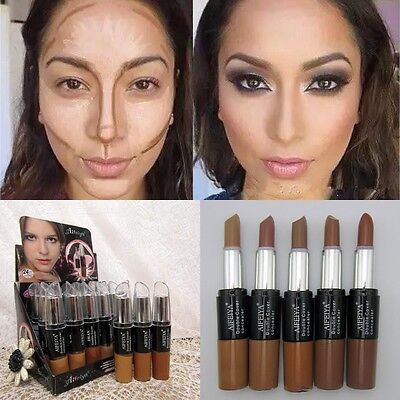 Double-ended 2in1 Contour Stick Cream Contouring Highlighter Bronzer Concealer