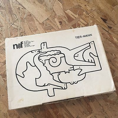 DEADSTOCK Vintage 60s NAEF TIER-MAN WOODEN PUZZLE Mid Century Nesting Modern Art