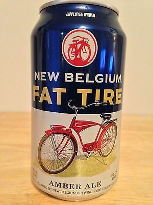 New Belgium FAT TIRE Amber Ale 12oz Craft Beer Can CLEAN EMPTY