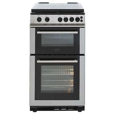 Belling FS50GTCL 50cm Twin Cavity 4 Burners Gas Cooker in Stainless Steel