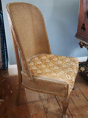 Lovely Shaped Vintage 1950's Loom Style Boudoir Chair in Gold Colour Needs TLC