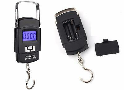 Digital Luggage Scales 50KG LBS OZ Handheld Fishing Weighing Travel Suitcase