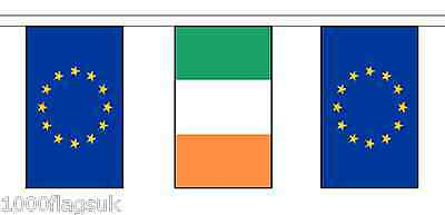 Ireland & European Union Polyester Flag Bunting - 10m with 28 Flags
