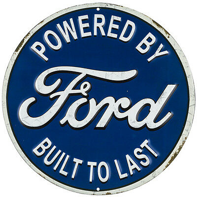 classic ford metal embossed garage mancave sign blue ford automotive man cave