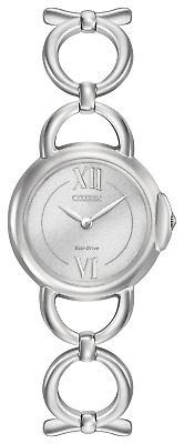 Citizen Eco Drive EX1450-59A Silver Dial Stainless Steel Bangle Women's Watch