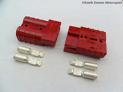 Anderson Plug SB50 Amp Battery /Jump Start / Slave Connector - Red x 2