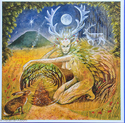 Wendy Andrew Pagan Greetings Card Love Green Man Wicca Birthday