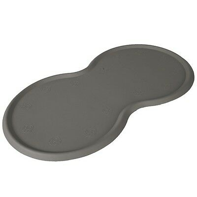 Place mat for food bowls, natural rubber, 45 × 25 cm, dark grey