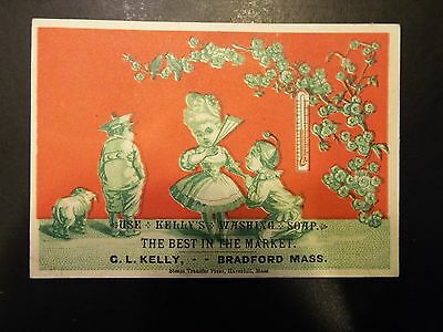 Kelly's Washing Soap Victorian Trade Card