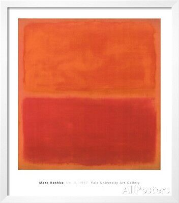 No 3 1967 by Mark Rothko Art Print Abstract Poster Red Orange 11x14