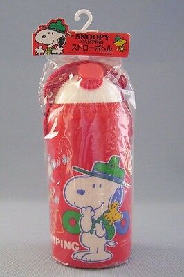 Snoopy Camping Beagle Scout Canteen Water Bottle Insulated Japan Woodstock New