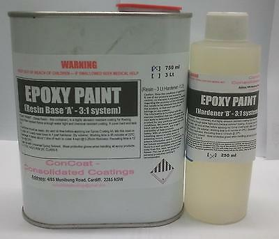 Epoxy Flowcoat - 3:1 ratio - 1Lt kit WHITE (FREE FREIGHT)