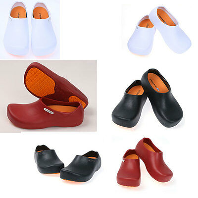 Chef Shoes Non-Slip Clogs Comfort Kitchen Bathroom Water Oil Safety Korea H