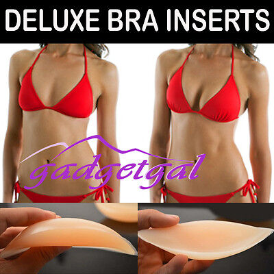 Large 85g Push-up Silicone Bra Inserts - Breast Pad Bikini Bra Cleavage Enhancer