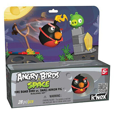 K'nex Angry Birds Space Fire Bomb Bird Vs. Small Minion Pig Building Set 28Pcs