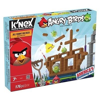 K'nex Angry Birds All Hams On Deck Building Set 176Pcs Kn72457