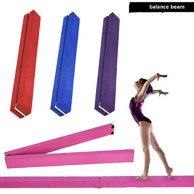 Suede 7ft Gymnastics Folding Balance Beam 2.1M Home Gym Training Hard Wearing UK