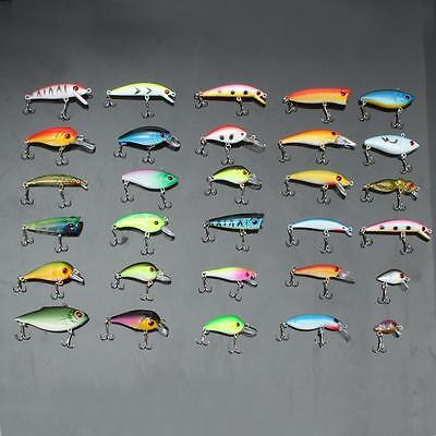 UK 30pz Esche Artificiali Pesca Minnow Spinning Fiume Fishing Lures CrankBaits