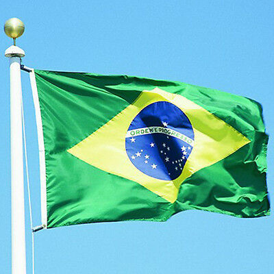Brazil National Flag  large 3'x5' Brazilian Flag the  BRA MKLG