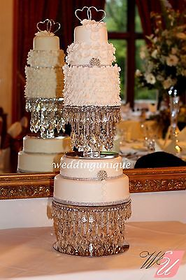 Crystal Diamante wedding cake stand, made with REAL glass crystals! chandelier