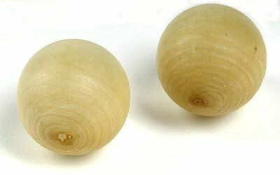2 x Boule Target ball 30 mm diameter in wood, new