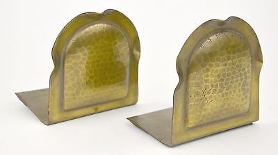 Pair of Antique Roycroft Arts and Crafts Bookends Hammered Copper Metal Mission