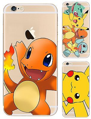 For iPhone Models Really Cool Pokemon Go Case - Cute Cartoon Soft Gel Hard Cover