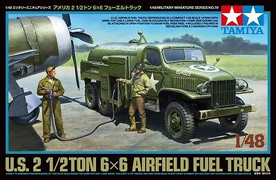Tamiya 32579 1/48 US 2 1/2 Ton 6x6 AIRFIELD FUEL TRUCK w/ 2 Figures from Japan