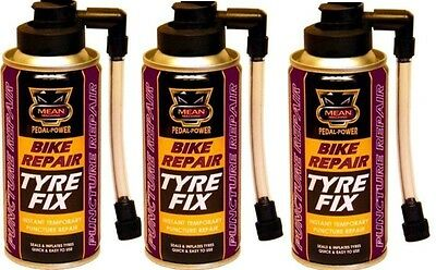 3 x Instant Bicycle Cycle Bike Puncture Repair Tyre Fix Sealant & Inflates 200ML