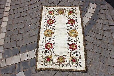 Antique Original Ottoman Full Silk Handmade Amazing Textile