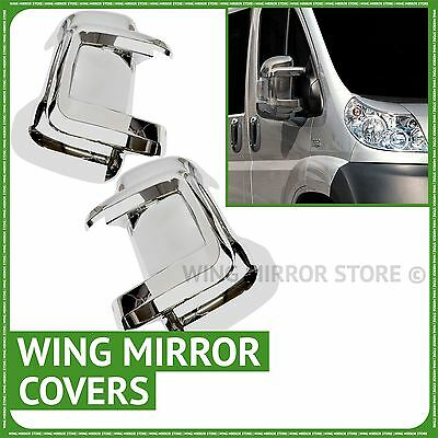 Pair of wing door chrome mirror covers caps for Fiat Ducato 2006-2013
