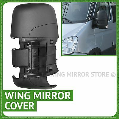 Left passenger side wing door mirror cover black case for Iveco Daily 2006-2011