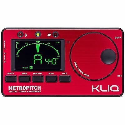 KLIQ MetroPitch - Digital Tuner Metronome for All Instruments, Red