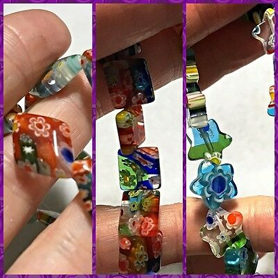 Millefiori Beads For Your Creations - 3 Styles to Choose From - 15 Beads/Strand