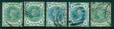 Great Britain Sg-213, Scott # 125, Used, 5 Stamps, Great Price!