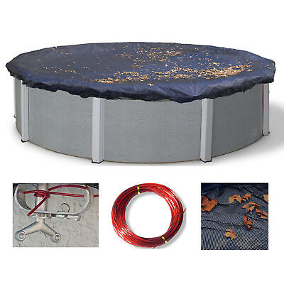 30' Round Above Ground Swimming Pool Leaf Net Catcher Cover - 4 Year Limited WTY