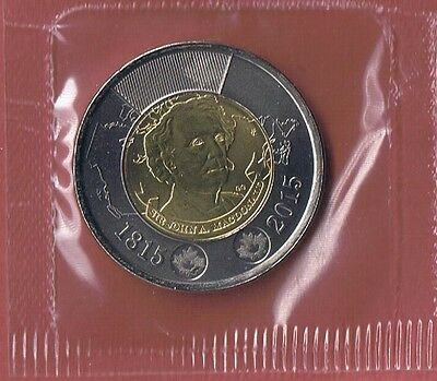 RCM BU 2015 Sealed in original cellophane $2 Sir John A MacDonald